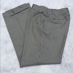 Talbots pants houndstooth bulk/white SZ 8 stretchy